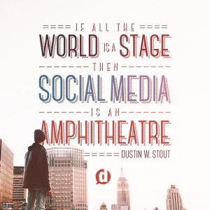 social media is an amphitheatre