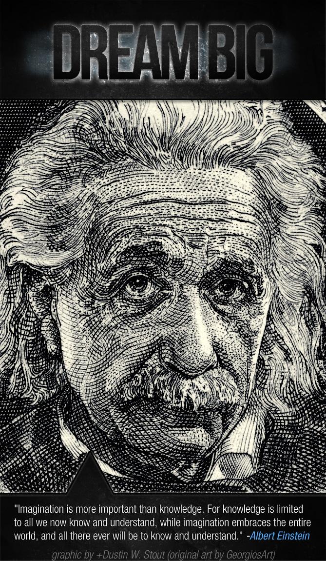 albert einstein imagination vs knowledge