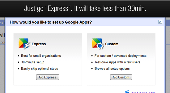 google apps step 3