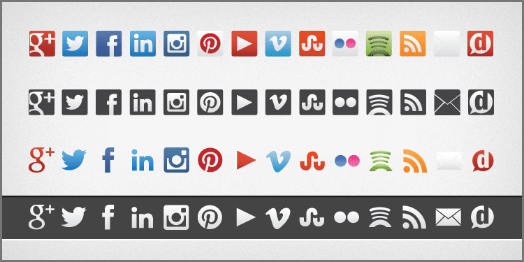 Keep Your Social Icons Updated [Download] | Dustn.tv