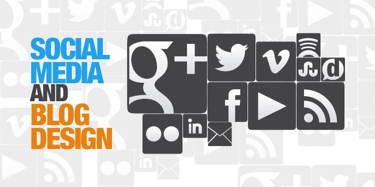 social media and blog design
