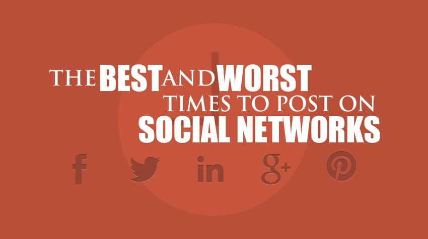 The Best and Worst Times to Post On Social Media