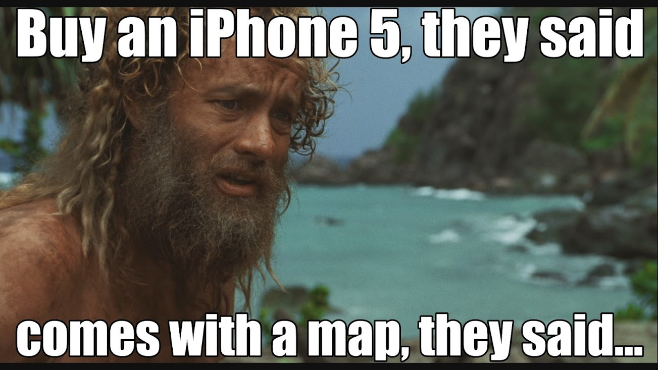 apple maps iphone 5 meme