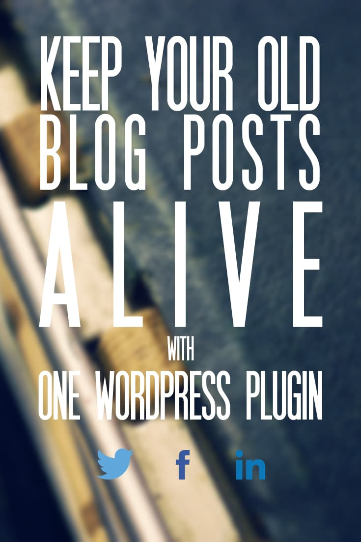 This one WordPress plugin will help keep your blog archive from dying and keep fresh traffic coming your way even when you don't publish anything new!