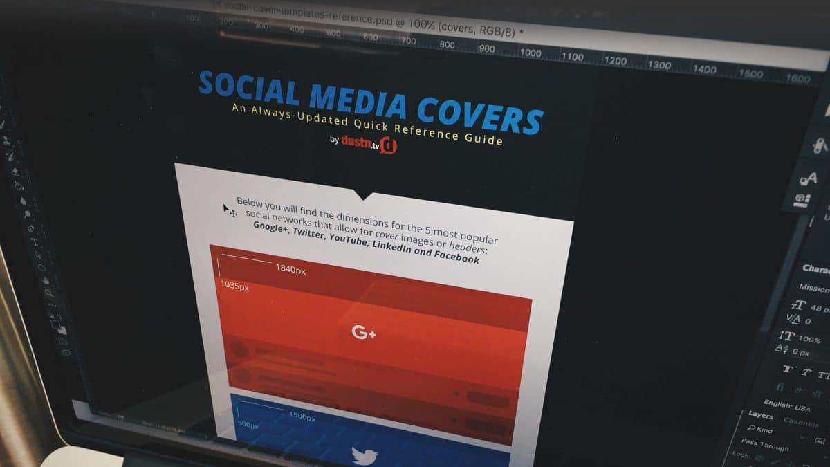 Social Media Cover Photo Dimensions