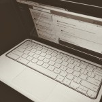 black and white laptop