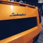 orange lamborghini emblem