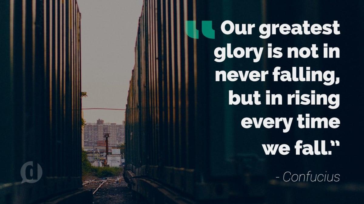 confucius glory quote