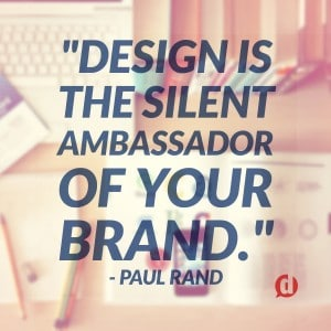 design brand quote
