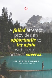 failed attempt quote kristoffer howes