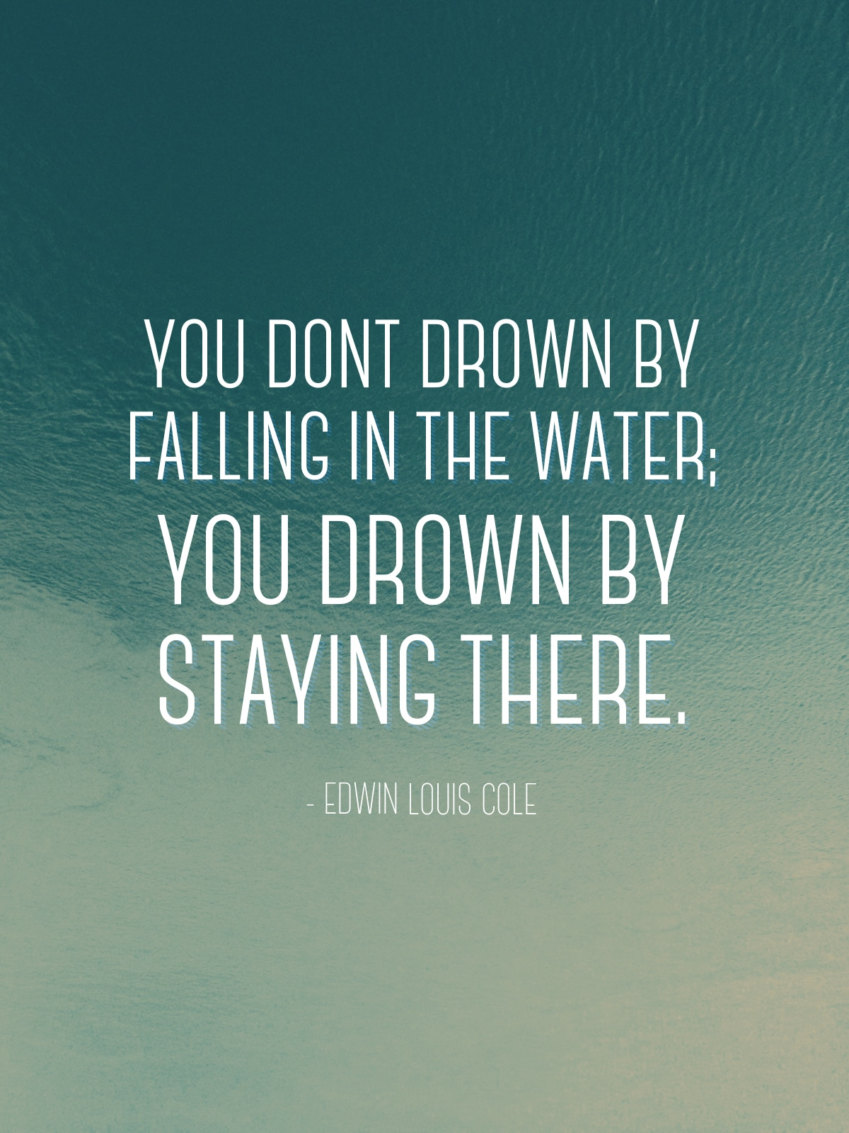 falling in the water quote