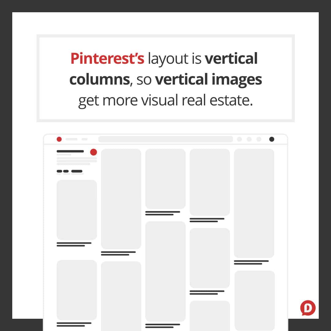 Pinterest's vertical layout