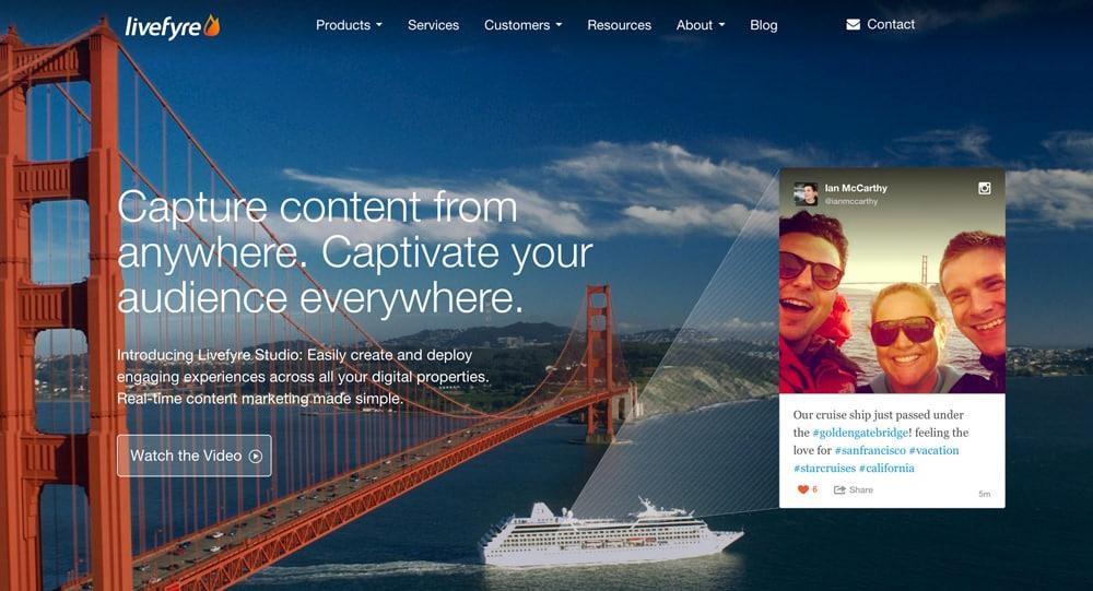 Livefyre commenting system home page