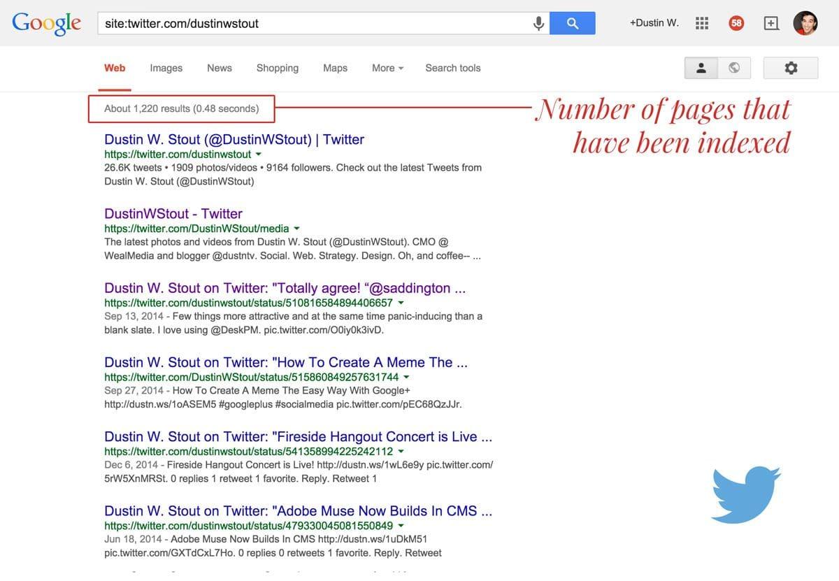 number of tweets indexed