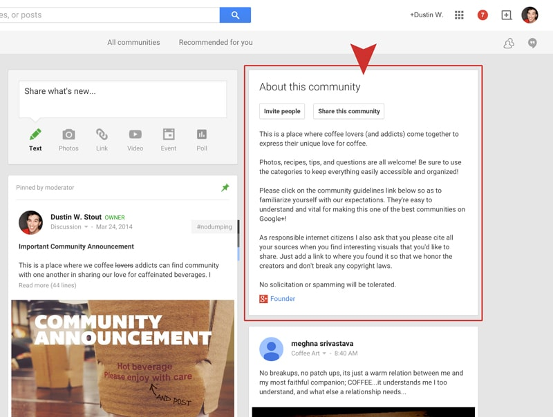 google+ community guidelines