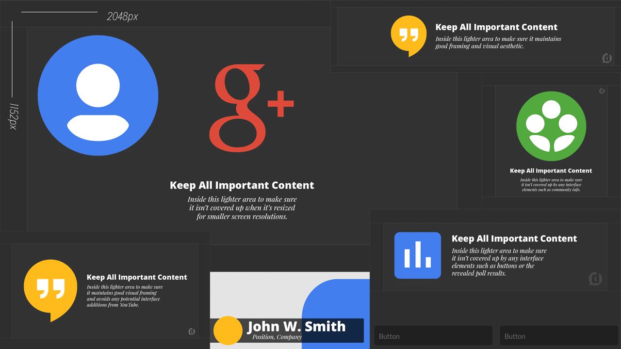 google plus templates