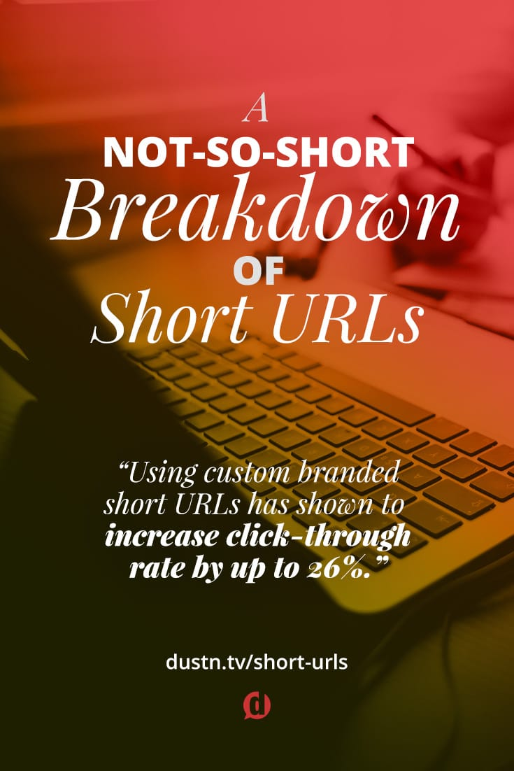 When using social media to share links many prefer to use URL shorteners. Short URLs make long links look cleaner, but there are also other benefits. There's also some caution that should be used, especially on Pinterest!