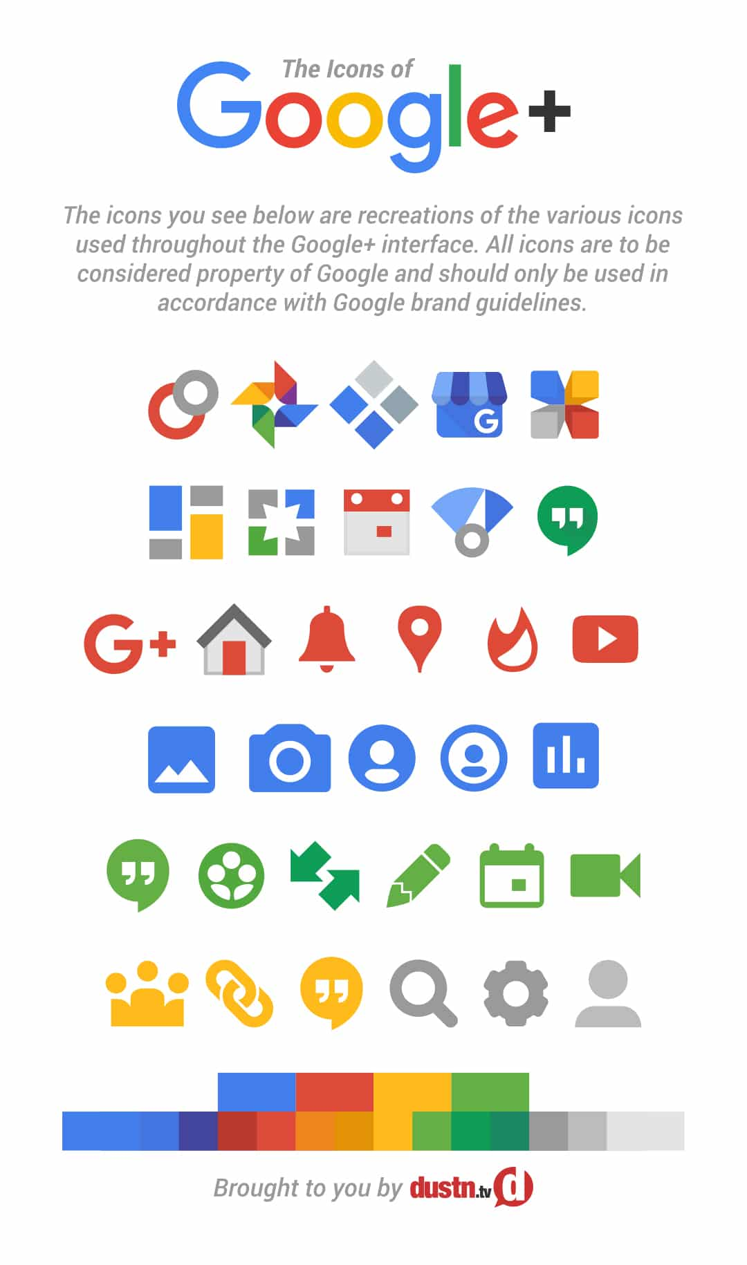 updated google plus icons 2016