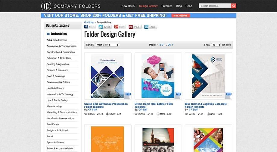 Company Folders Screenshot