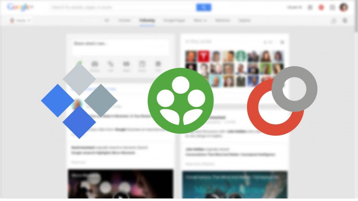 google+ collections communities and circles