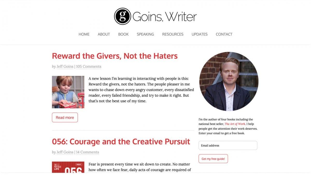 jeff goins blog