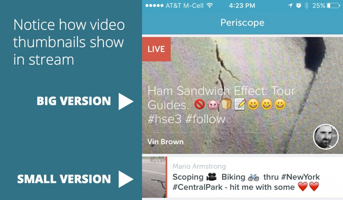 periscope video thumbnails