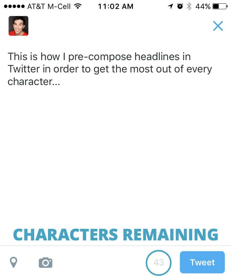 edit periscope headline in twitter