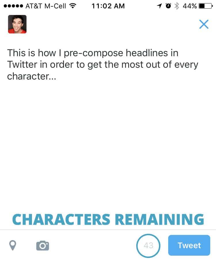 edit periscope headline in twitter