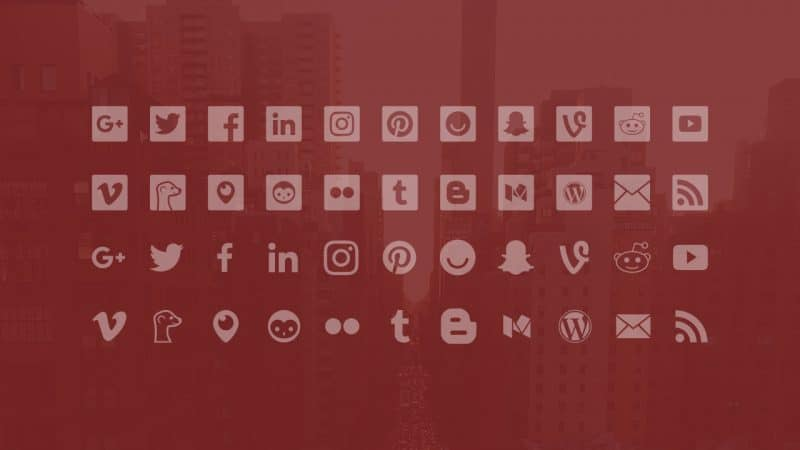 Social Media Icon Set: Flat, Minimal, Accurate and Updated
