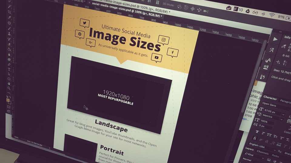 The Ultimate Social Media Image Sizes + Templates