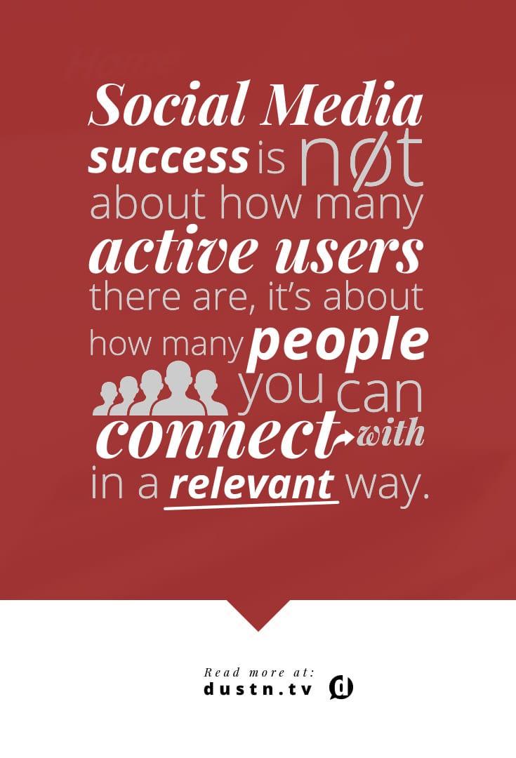 social media success quote