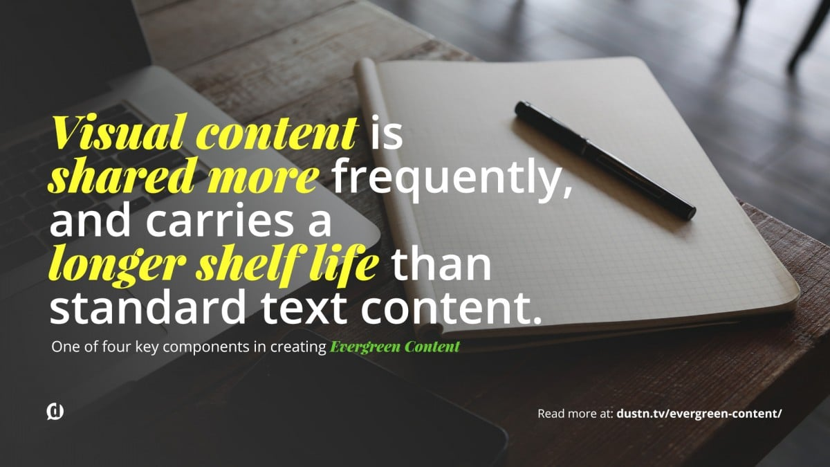 Visual Evergreen Content Quote