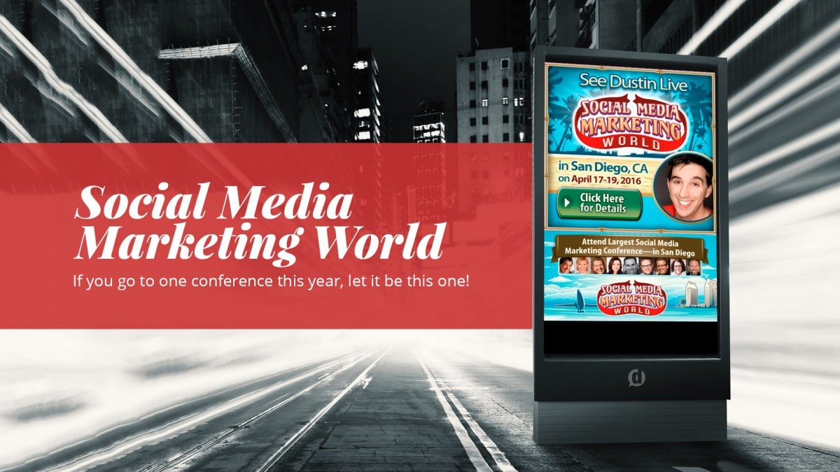 social media marketing world billboard