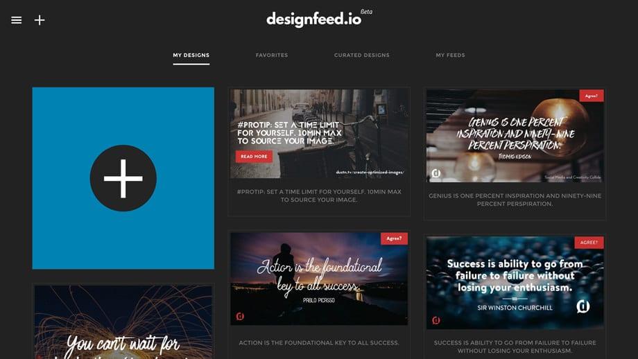 screenshot of designfeed
