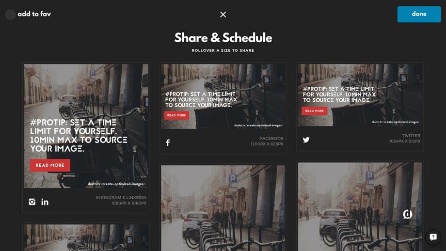 screenshot of designfeed image sizes