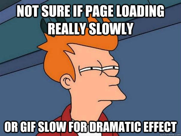 meme of fry for slow loading