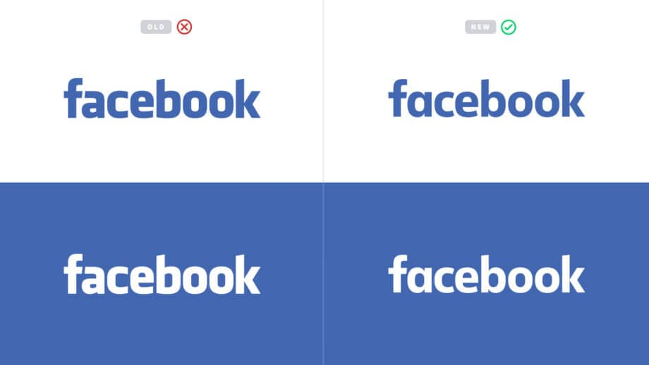 facebook old logo wordmark vs new logo wordmark