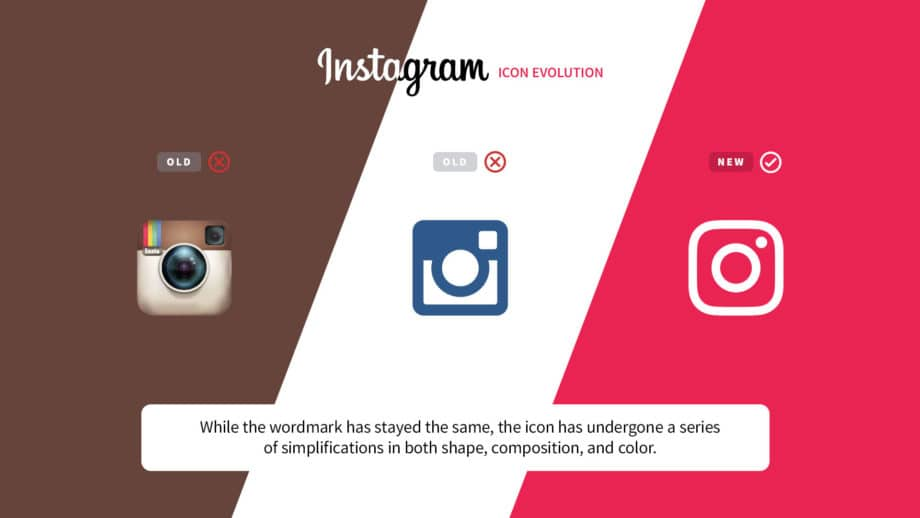 instagram logo changes over time