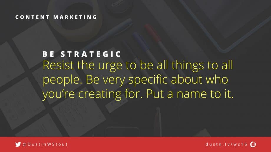 be strategic in content marketing