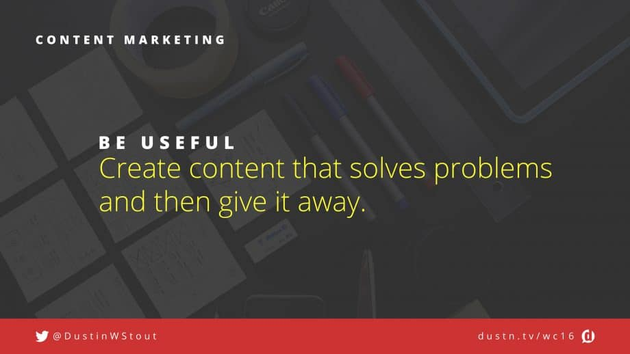 be useful in content marketing