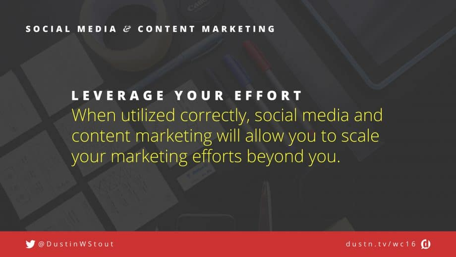 leverage social media and content marketing