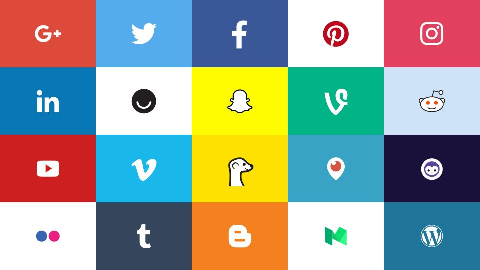 Social Media Logos: 20 Most Popular Biggest Networks [Free Download]