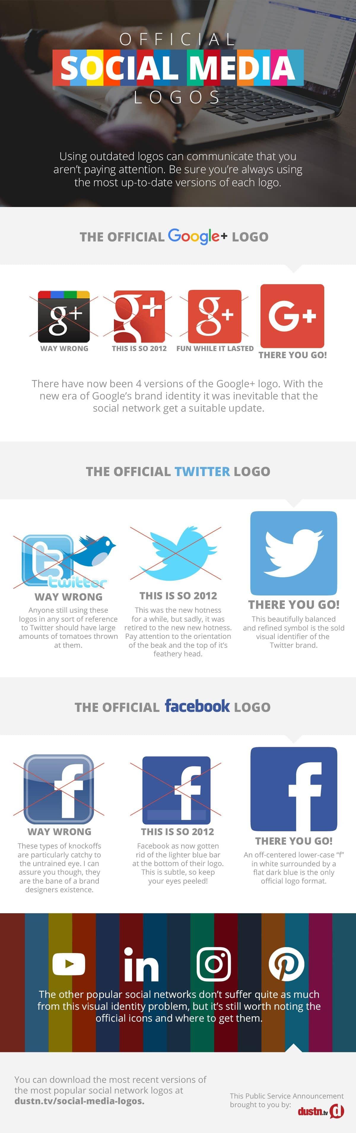 Official Social Media Logos Infographic