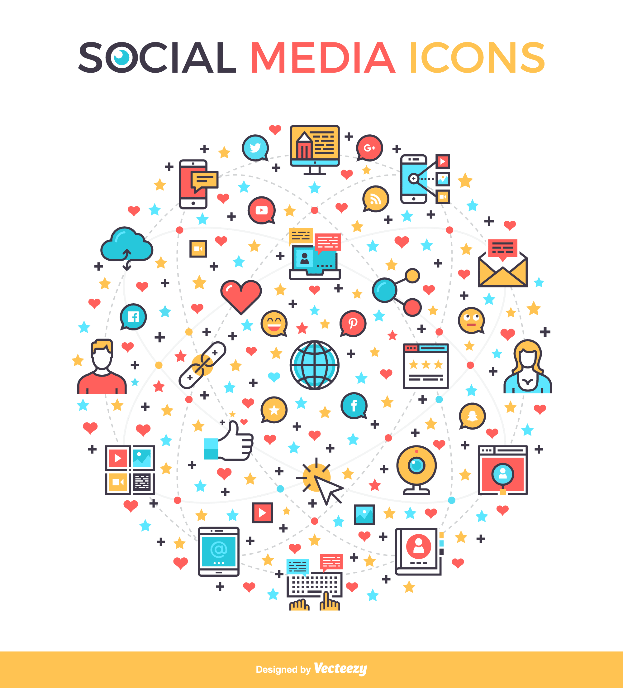 social media icons from vecteezy