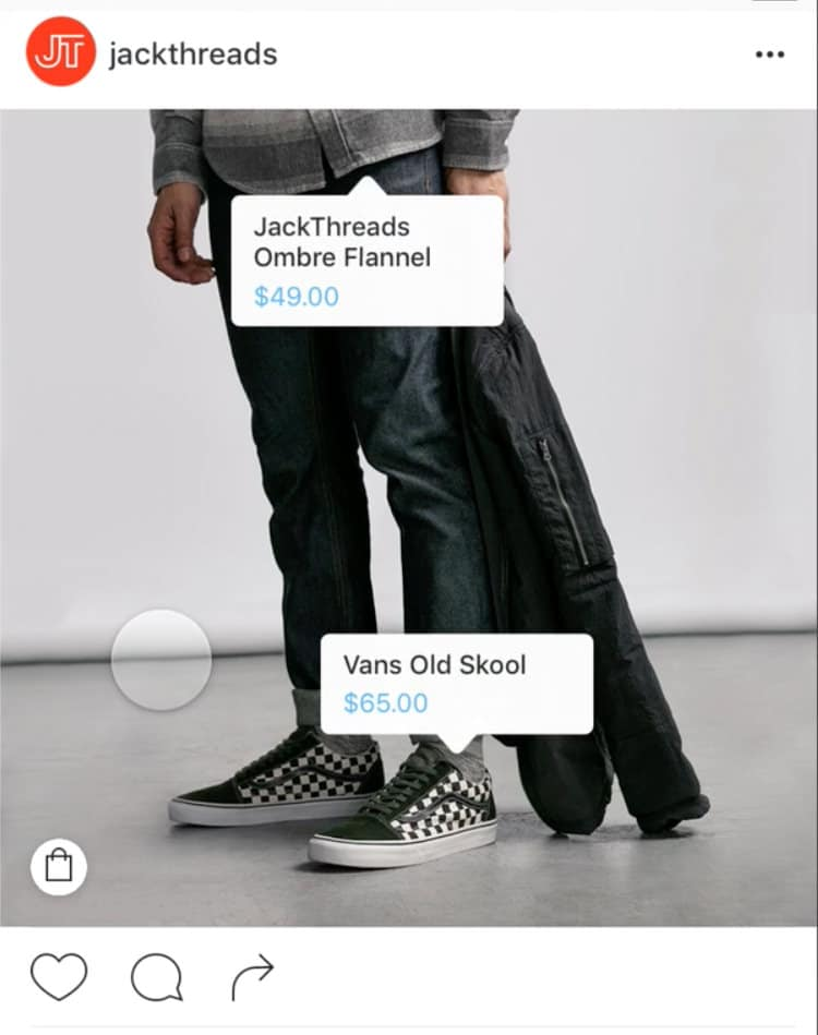 Instagram Shopping Product Tags JackThreads