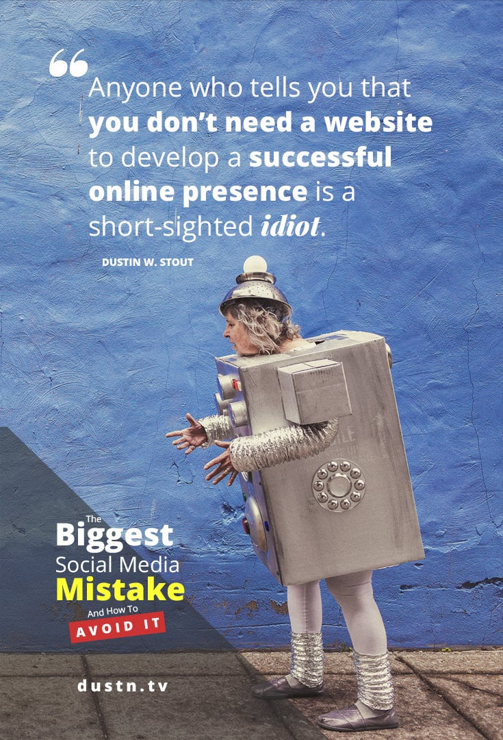 biggest social media mistake quote pinterest image