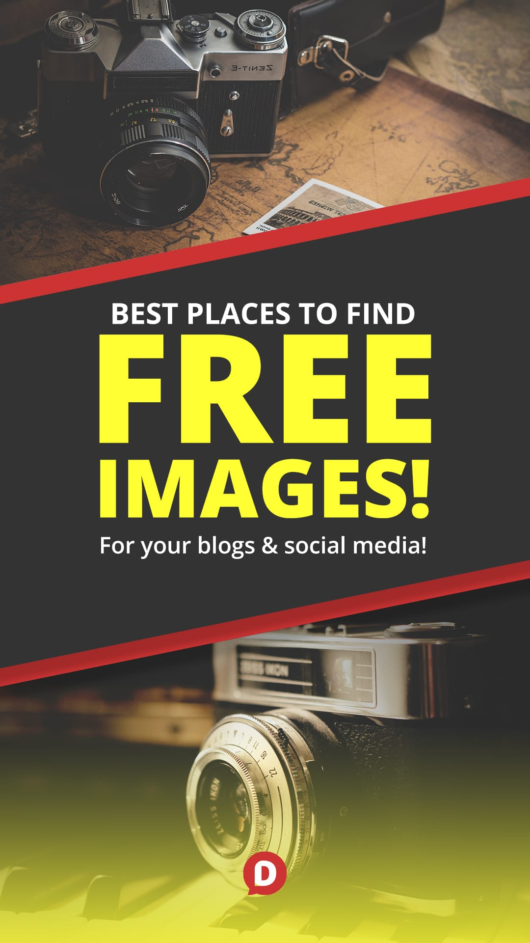 My go-to list of the best resources to find free images to use in your blog posts, social media updates and websites!