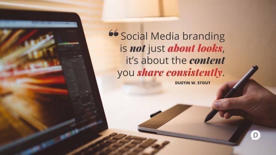social media branding quote