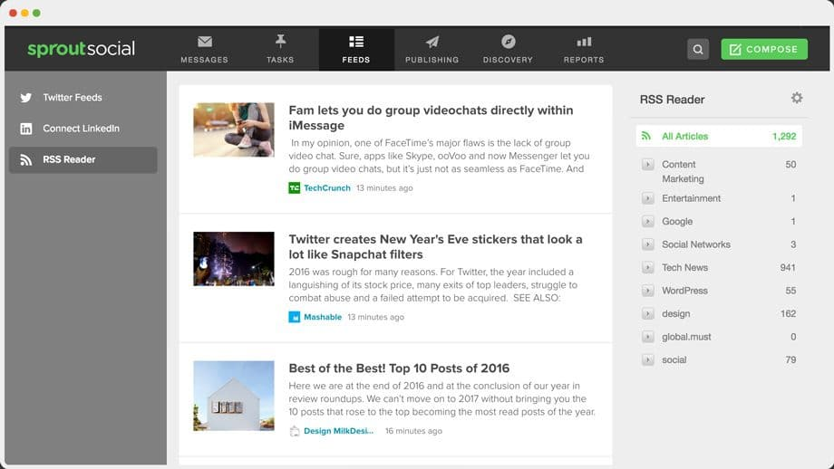 sprout social feedly