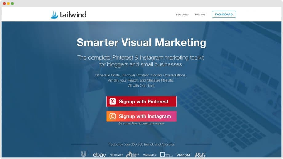 Tailwind home page